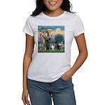 StFrancis-Lab & Sheltie Women's T-Shirt
