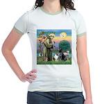 StFrancis-Lab & Sheltie Jr. Ringer T-Shirt