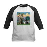 StFrancis-Lab & Sheltie Kids Baseball Jersey