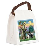 StFrancis-Lab & Sheltie Canvas Lunch Bag