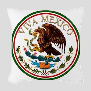 VIVA MEXICO Woven Throw Pillow