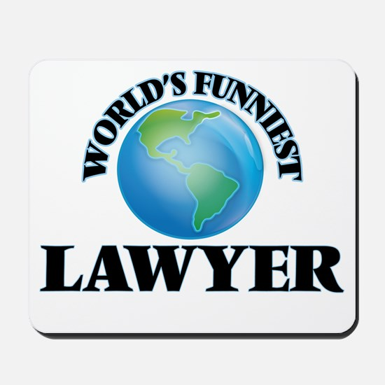 World's Funniest Lawyer Mousepad