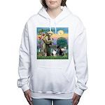 StFrancis-Lab & Sheltie Women's Hooded Sweatshirt