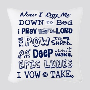 Snow Prayer Woven Throw Pillow
