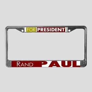 Rand Paul for President V1 License Plate Frame