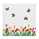 Tulip Garden Tile Coaster