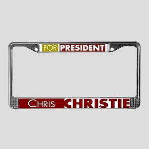 Chris Christie for President V License Plate Frame