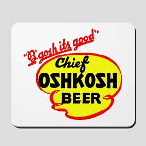 Chief Oshkosh Beer-1952 Mousepad