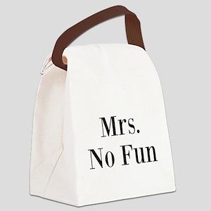 Mrs. No Fun Canvas Lunch Bag