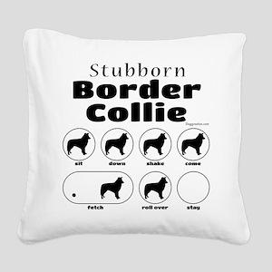 Stubborn Border v2 Square Canvas Pillow