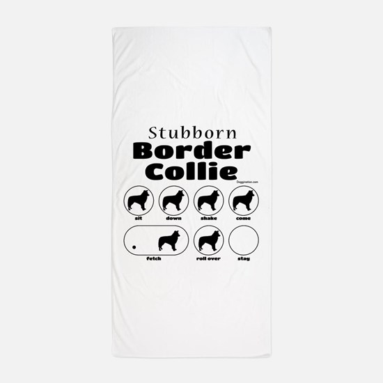 Stubborn Border v2 Beach Towel
