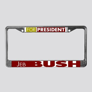 Jeb Bush for President License Plate Frame