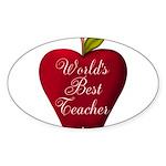Worlds Best Teacher Apple Sticker