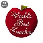 Worlds Best Teacher Apple 3.5
