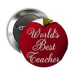 Worlds Best Teacher Apple 2.25