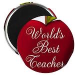 Worlds Best Teacher Apple Magnets