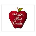 Worlds Best Teacher Apple Posters