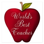 Worlds Best Teacher Apple Invitations