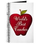 Worlds Best Teacher Apple Journal