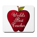 Worlds Best Teacher Apple Mousepad