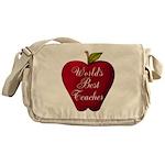 Worlds Best Teacher Apple Messenger Bag