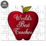 Worlds Best Teacher Apple Puzzle