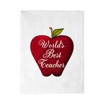 Worlds Best Teacher Apple Twin Duvet