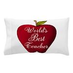 Worlds Best Teacher Apple Pillow Case