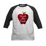 Worlds Best Teacher Apple Baseball Jersey