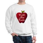 Worlds Best Teacher Apple Sweatshirt
