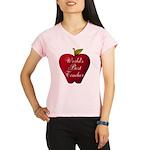 Worlds Best Teacher Apple Performance Dry T-Shirt