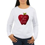 Worlds Best Teacher Apple Long Sleeve T-Shirt