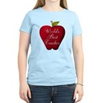 Worlds Best Teacher Apple T-Shirt