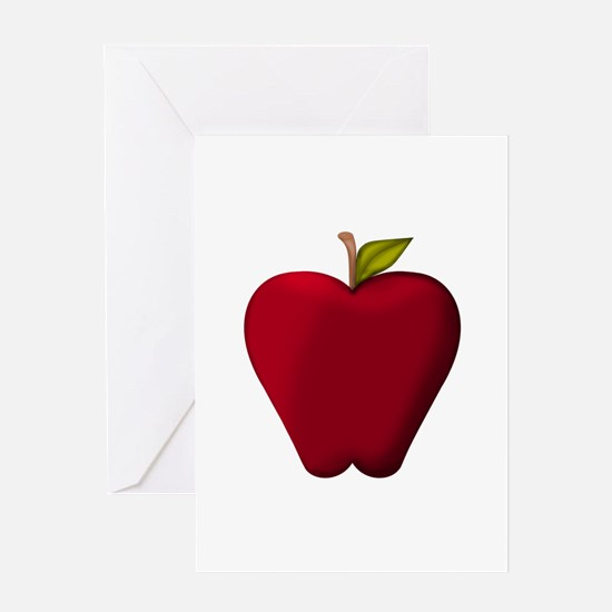 Red Apple Greeting Cards