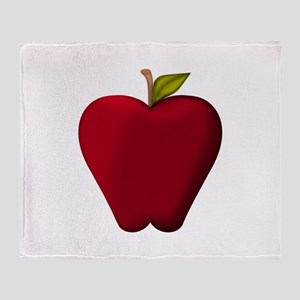 Red Apple Throw Blanket