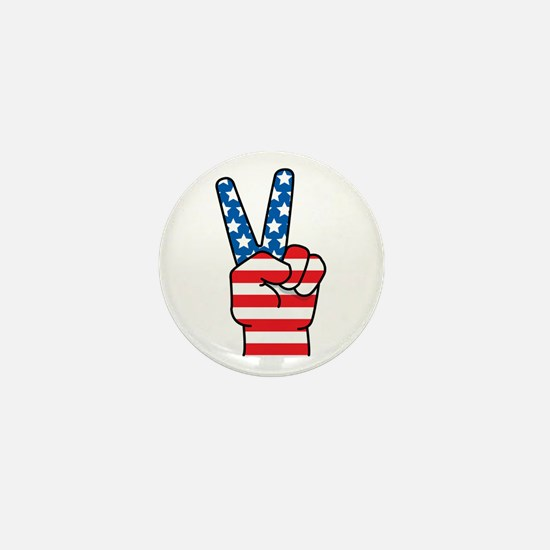Peace Patriot Mini Button