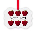 Personalizable Red Apples Ornament