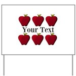 Personalizable Red Apples Yard Sign