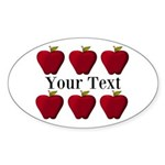 Personalizable Red Apples Sticker