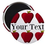 Personalizable Red Apples Magnets