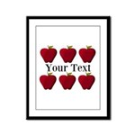 Personalizable Red Apples Framed Panel Print