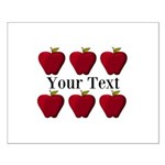 Personalizable Red Apples Posters