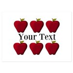 Personalizable Red Apples Invitations