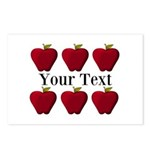 Personalizable Red Apples Postcards (Package of 8)