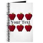 Personalizable Red Apples Journal