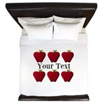 Personalizable Red Apples King Duvet