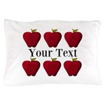 Personalizable Red Apples Pillow Case