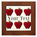 Personalizable Red Apples Framed Tile