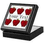 Personalizable Red Apples Keepsake Box