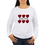 Personalizable Red Apples Long Sleeve T-Shirt